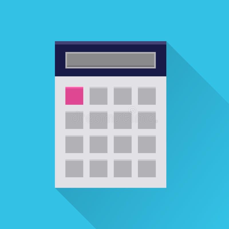 Icona piana del calcolatore illustrazione di stock