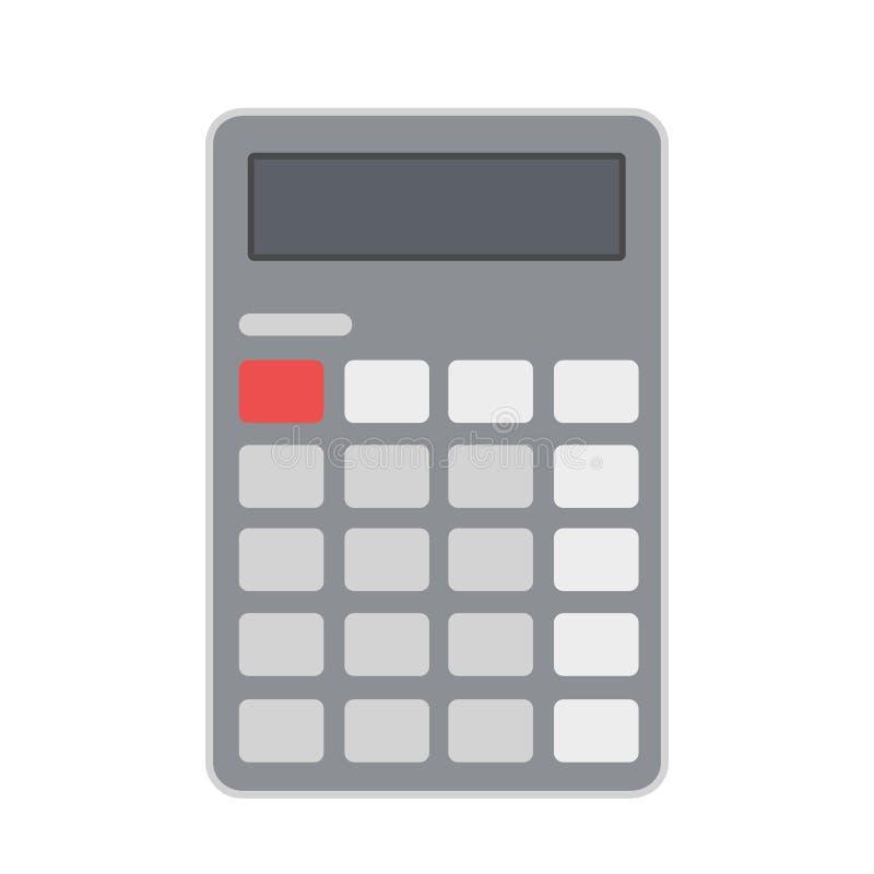 Icona piana del calcolatore di affari, illustrazione di riserva di vettore illustrazione di stock