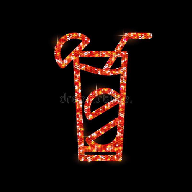 Icona piana del cocktail Mary sanguinante illustrazione vettoriale