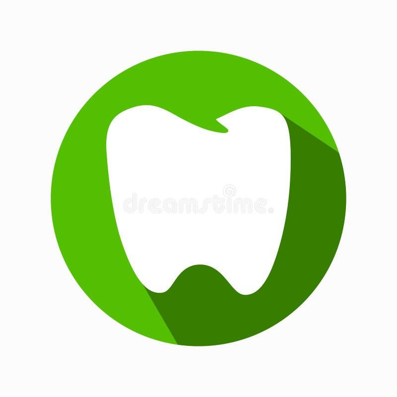 Icona piana del dente Disegno moderno royalty illustrazione gratis