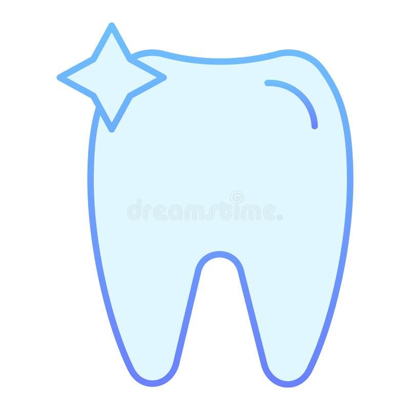 Icona piana del dente Icone blu dell'ammaccatura nello stile piano d'avanguardia Progettazione di stile di pendenza di odontoiatr royalty illustrazione gratis