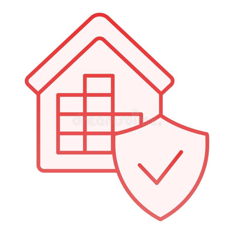Icona piana del magazzino Icone di colore della Camera nello stile piano d'avanguardia Progettazione rossa di stile di pendenza d royalty illustrazione gratis