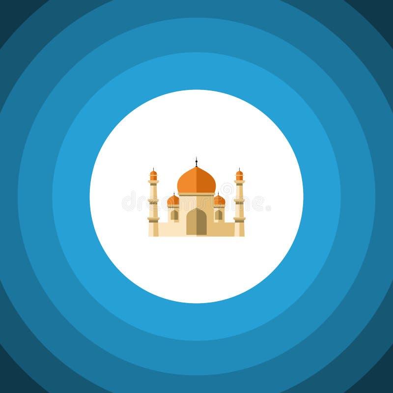Icona piana del minareto L'elemento di vettore di religione può essere usato per il minareto, religione, sviluppante il concetto  illustrazione di stock