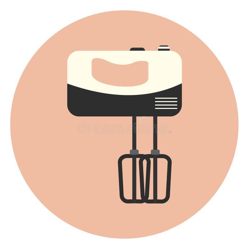 Icona piana del miscelatore della maniglia, elettrodomestico da cucina illustrazione vettoriale