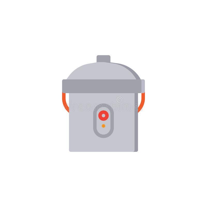 Icona piana del multi fornello illustrazione di stock