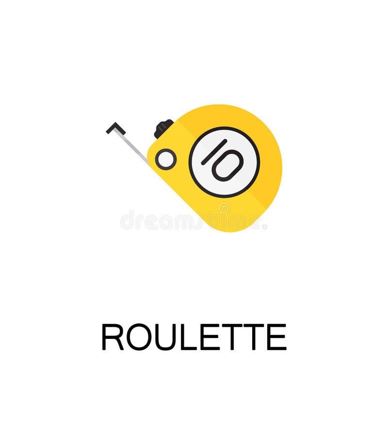 Icona piana del nastro di misura royalty illustrazione gratis