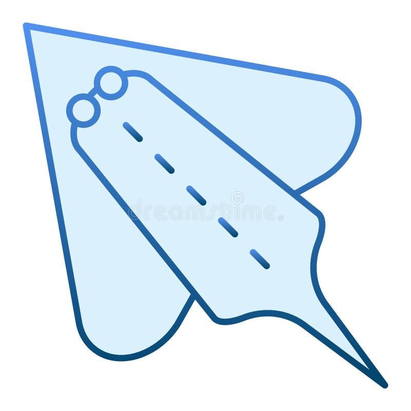 Icona piana del pesce della rampa Icone blu di stingray elettrico nello stile piano d'avanguardia Progettazione di stile di pende illustrazione vettoriale