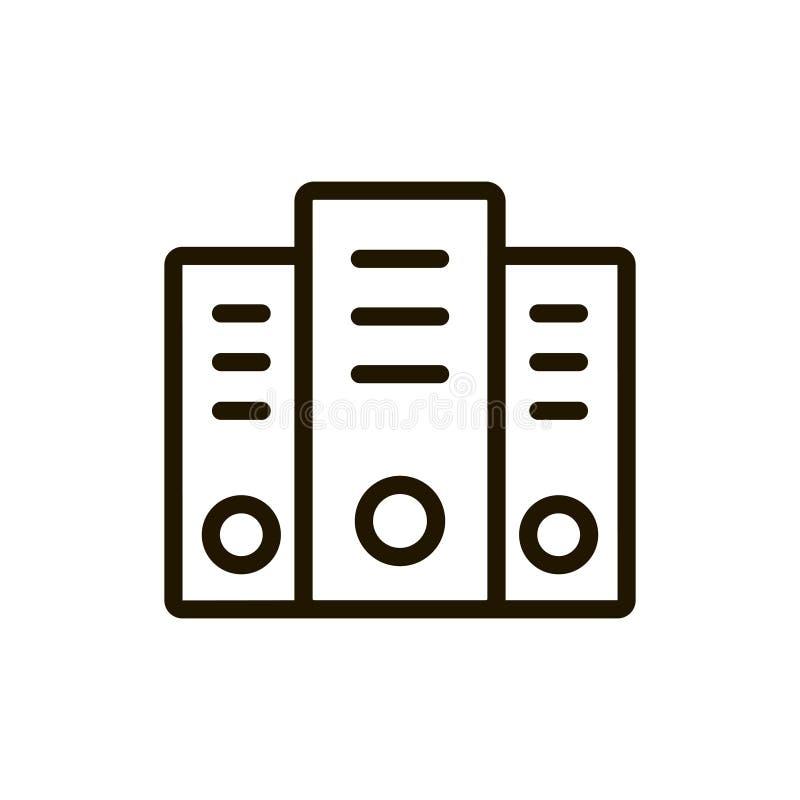 Icona piana del server illustrazione di stock