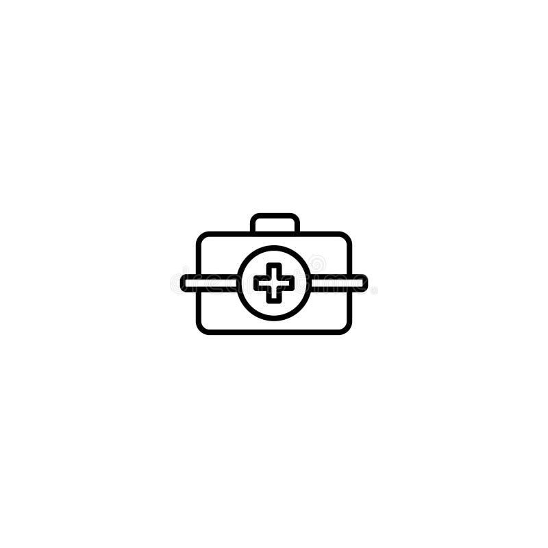 Icona piana del veterinario illustrazione di stock