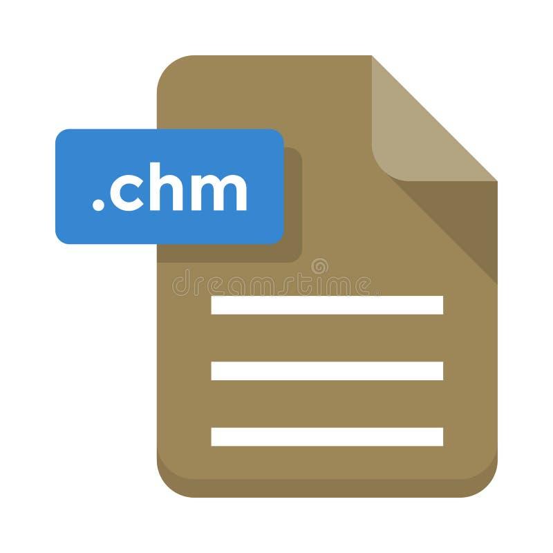Icona piana dell'archivio di Chm illustrazione di stock