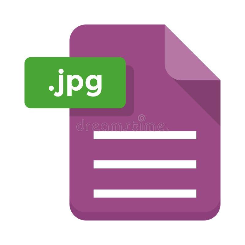 Icona piana dell'archivio di Jpg royalty illustrazione gratis