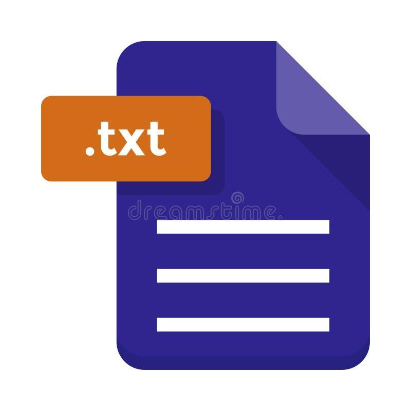 Icona piana dell'archivio di Txt illustrazione vettoriale