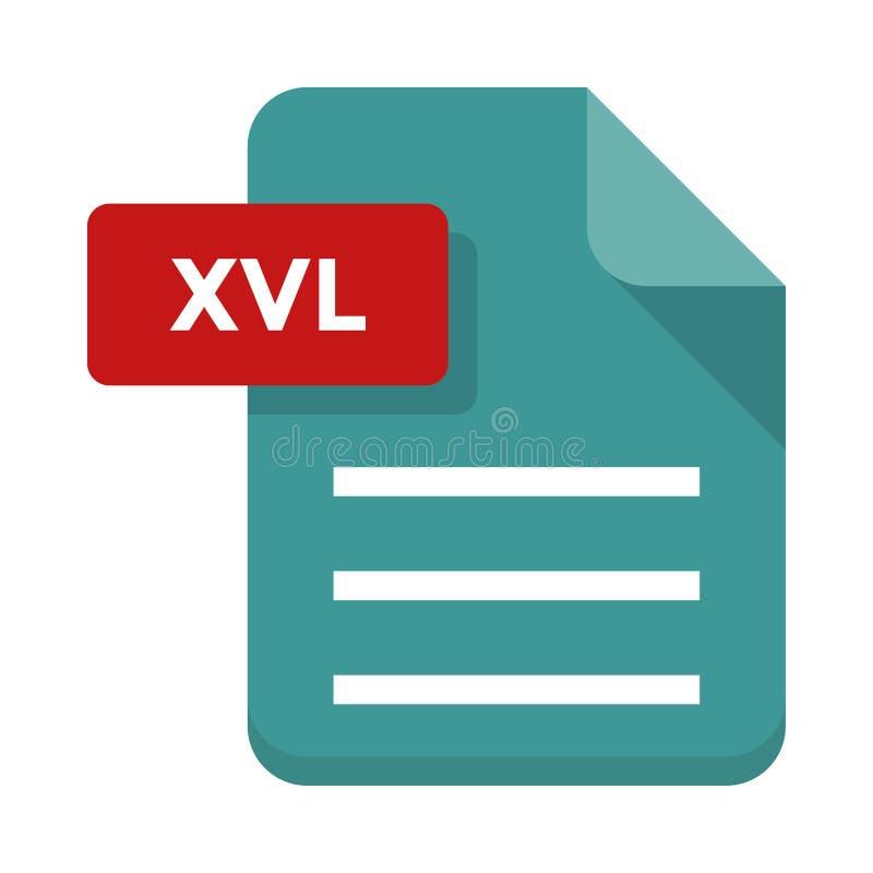 Icona piana dell'archivio di Xvl royalty illustrazione gratis