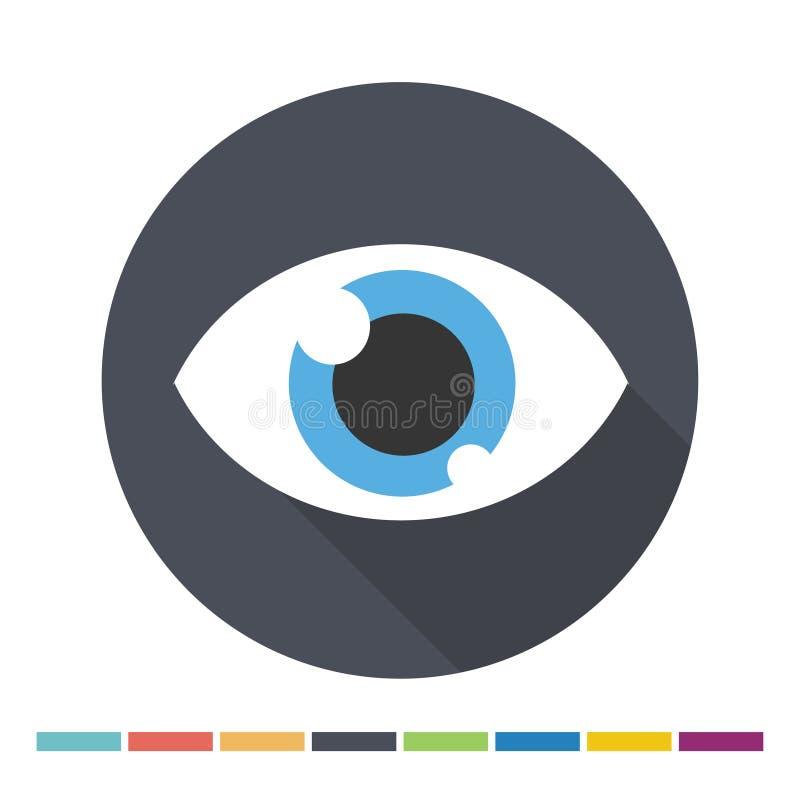 Icona piana dell'occhio royalty illustrazione gratis