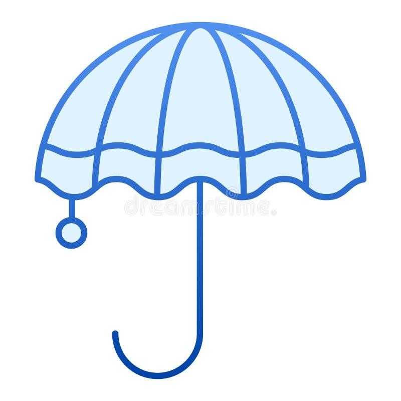 Icona piana dell'ombrello Icone blu di protezione di pioggia nello stile piano d'avanguardia Progettazione di stile di pendenza d illustrazione vettoriale