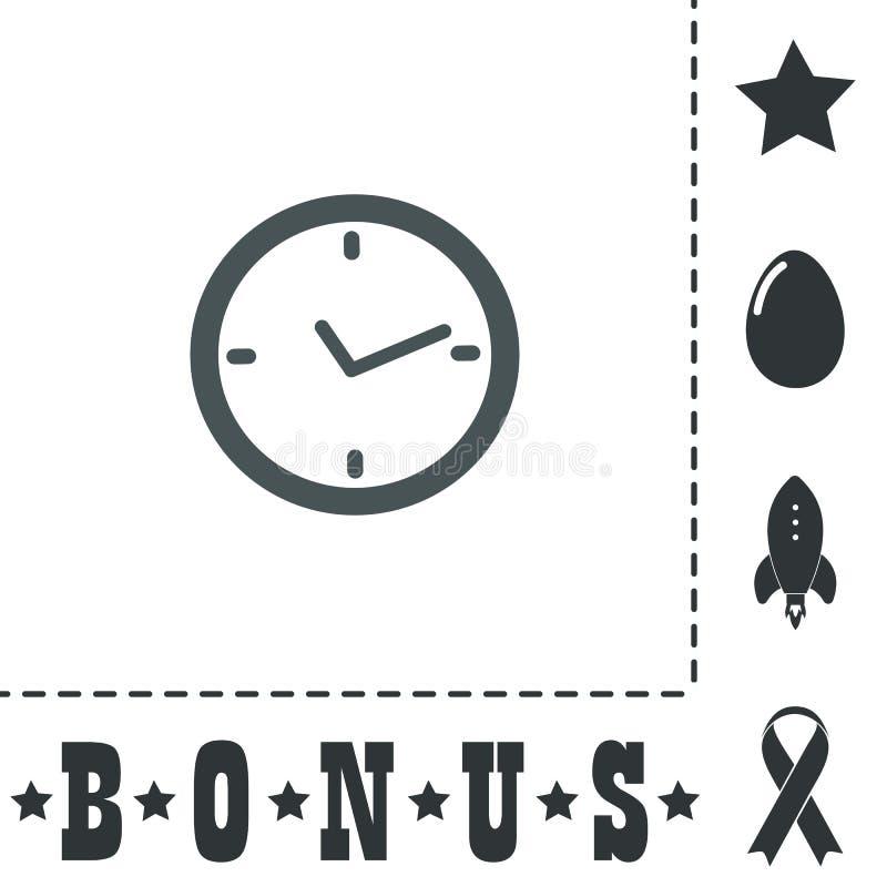 Icona piana dell'orologio royalty illustrazione gratis