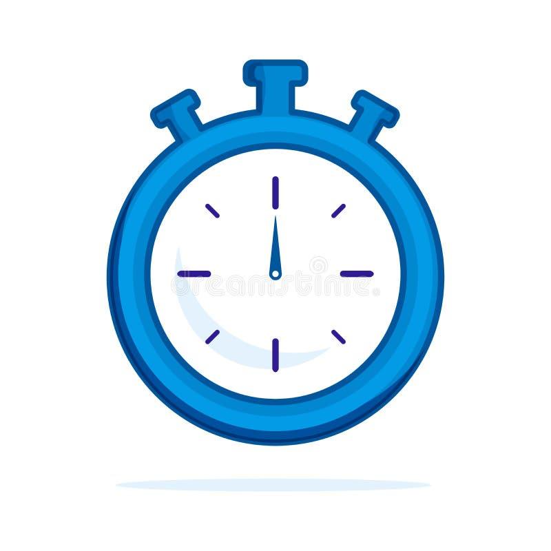 Icona piana dell'orologio Singolo simbolo del profilo di alta qualit? di forma fisica per web design o il cellulare app Linea sot royalty illustrazione gratis