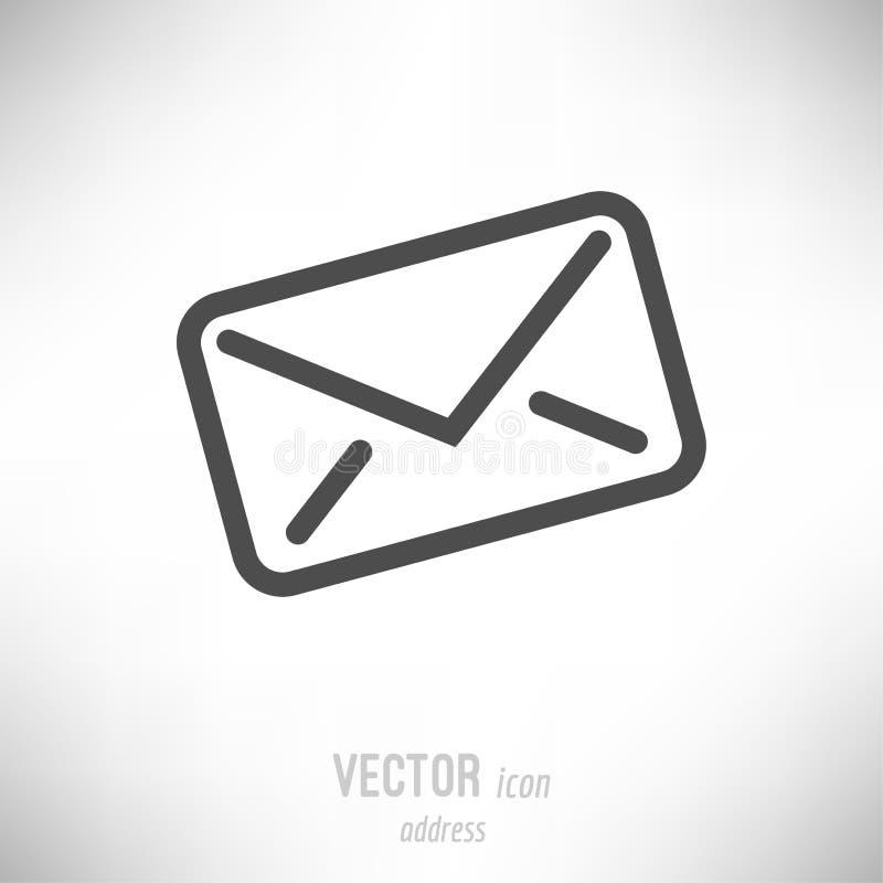 Icona piana della busta di indirizzo illustrazione vettoriale