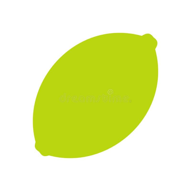 Icona piana della calce illustrazione vettoriale