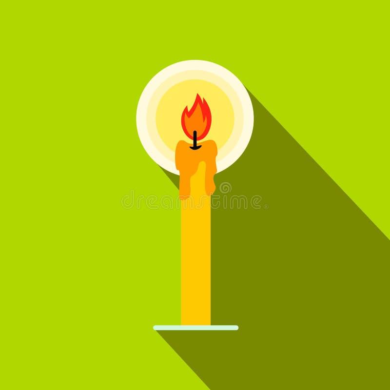 Icona piana della candela bruciante royalty illustrazione gratis