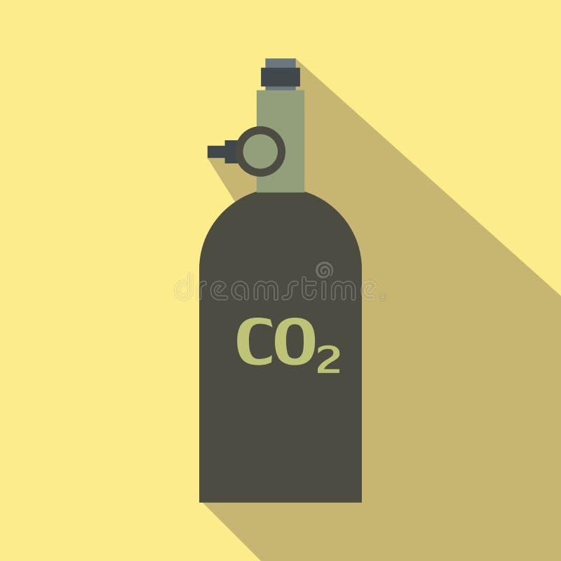 Icona piana della granata a mano del gas illustrazione vettoriale