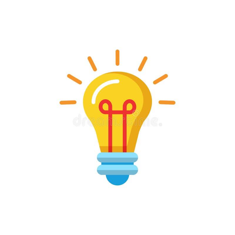 Icona piana della lampada su fondo bianco Illustrazione di vettore illustrazione vettoriale