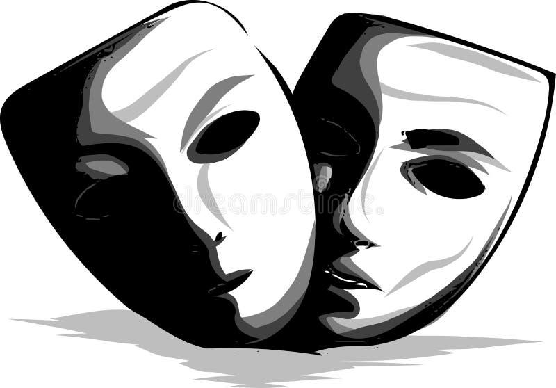 Icona piana della maschera facciale Medicina, cosmetologia e sanità Illustrazione di vettore illustrazione vettoriale