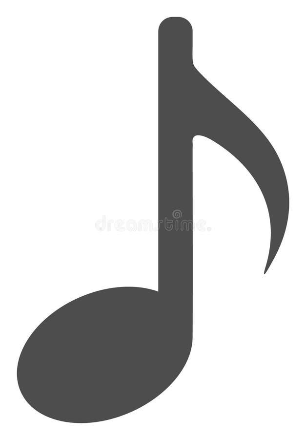 Icona piana della nota di musica di vettore illustrazione vettoriale