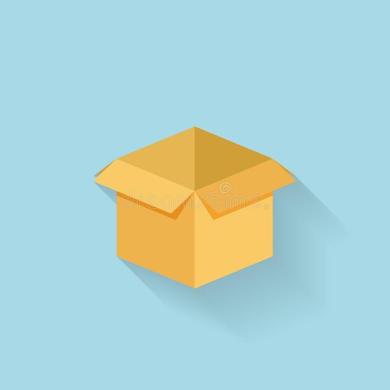 Icona piana della scatola per il web illustrazione di stock