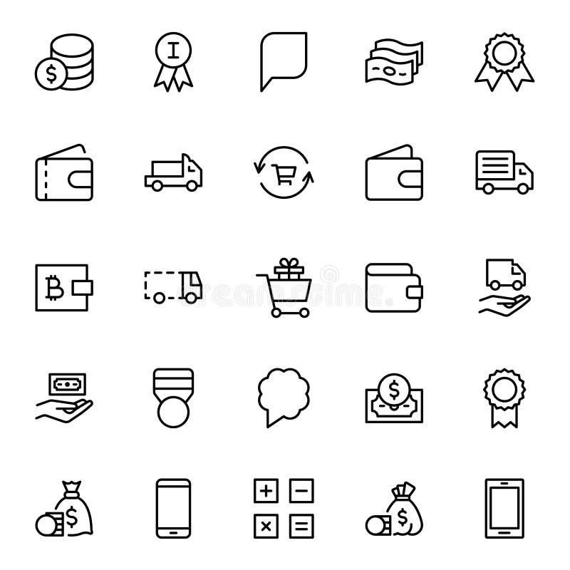 Icona piana di commercio elettronico illustrazione di stock