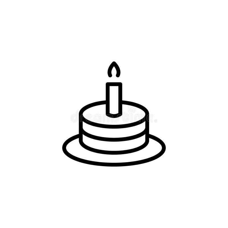 Icona piana di compleanno illustrazione vettoriale