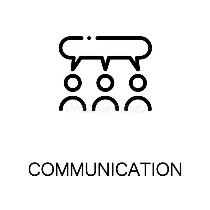 Icona piana di comunicazione illustrazione di stock