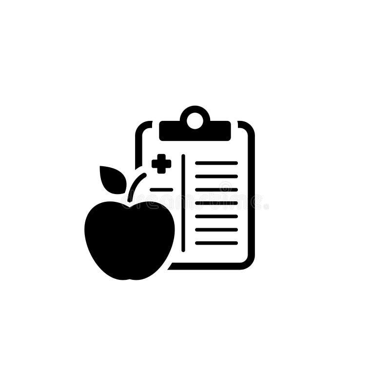 Icona piana di dieta medica illustrazione vettoriale