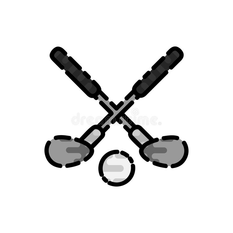 Icona piana di golf illustrazione di stock
