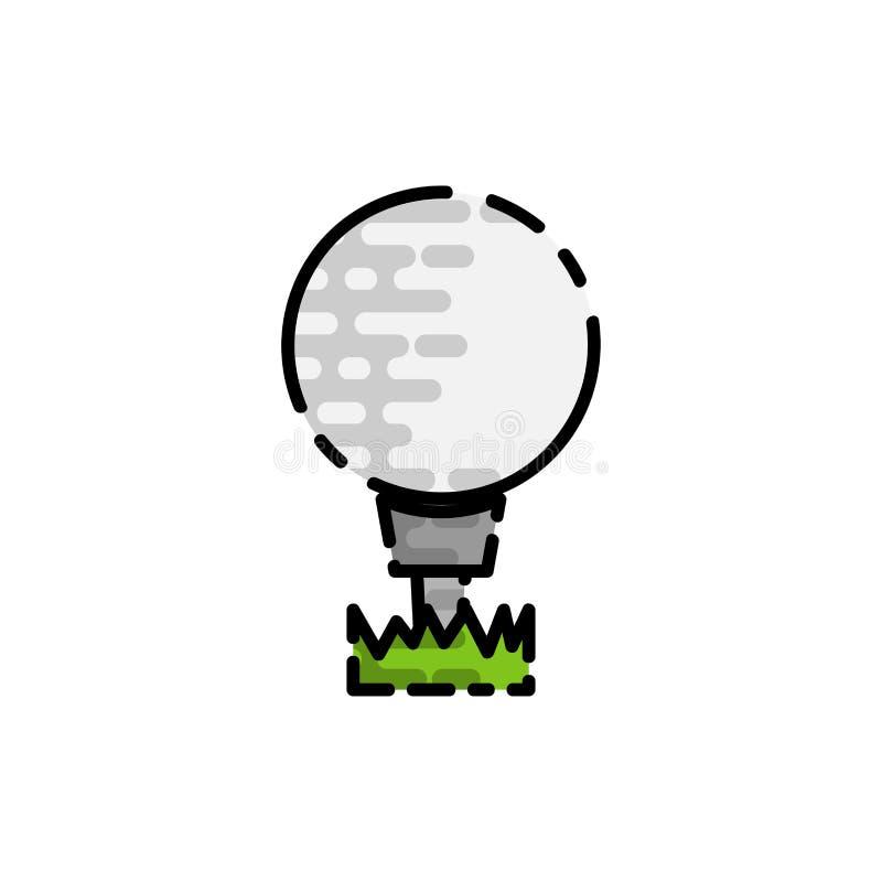 Icona piana di golf illustrazione vettoriale