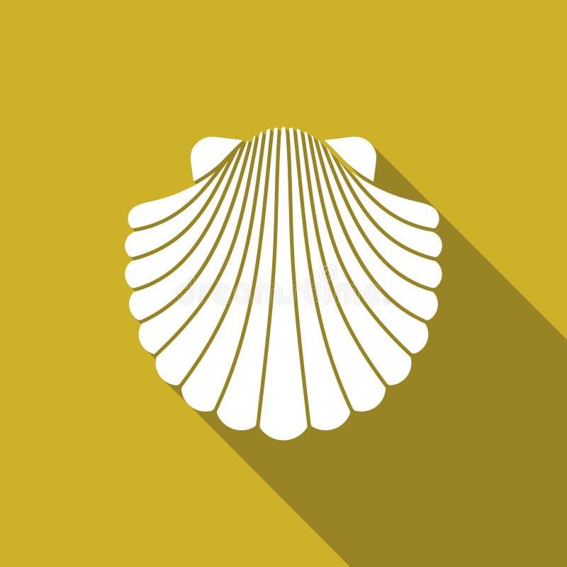 Icona piana di Shell illustrazione vettoriale