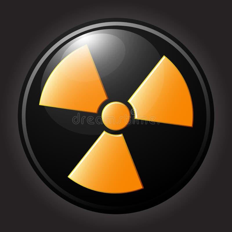Icona piana di simbolo di radiazione immagine stock libera da diritti