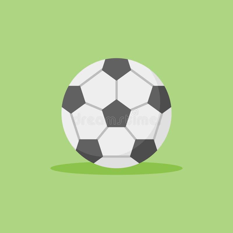 Icona piana di stile di calcio Illustrazione di vettore del pallone da calcio illustrazione di stock