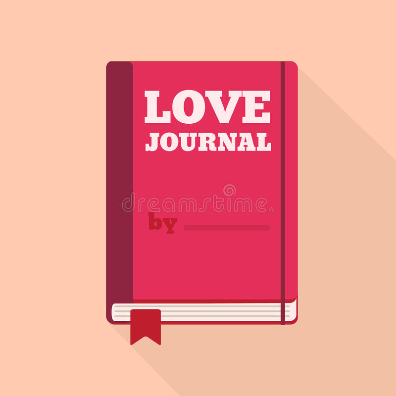 Icona piana di stile con ombra lunga Un giornale di amore royalty illustrazione gratis