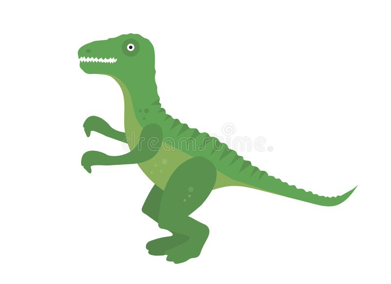 Icona piana di stile di tirannosauro Isolato su priorit? bassa bianca Illustrazione di vettore royalty illustrazione gratis