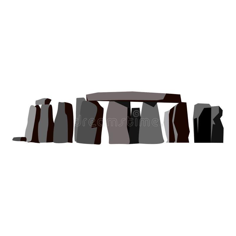 Icona piana di Stonehenge illustrazione di stock