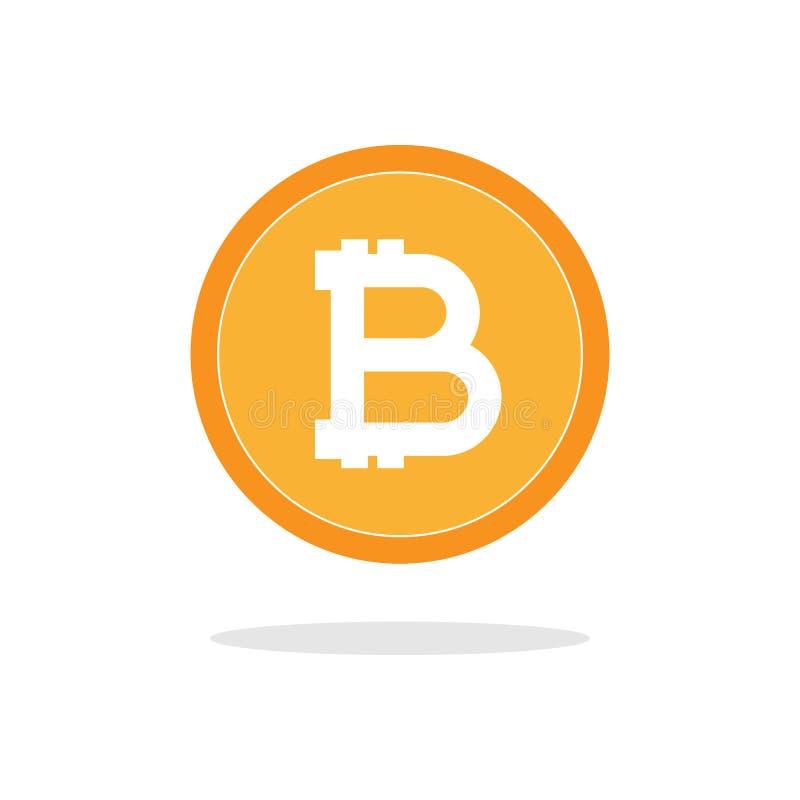 Icona piana di vettore di Bitcoin Simbolo di valuta cripto mondiale Valuta virtuale Valuta cripto nuovi soldi virtuali illustrazione vettoriale