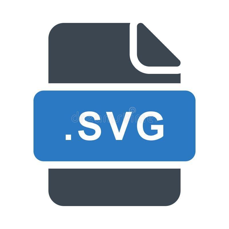 Icona piana di vettore di colore di glifo di Svg illustrazione vettoriale