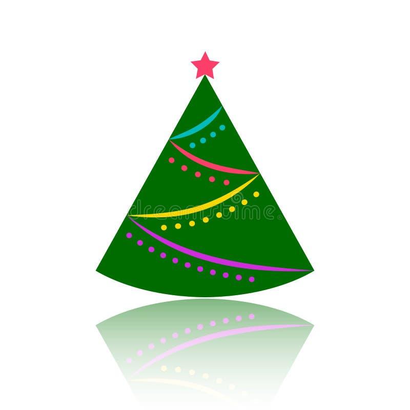 Icona piana di vettore di colore semplice dell'albero di Natale illustrazione di stock