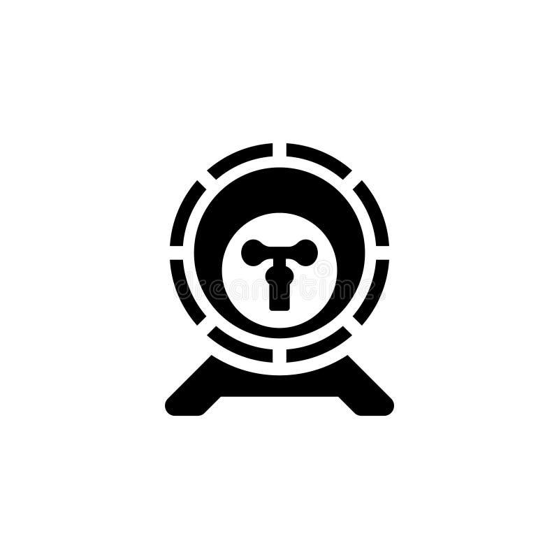 Icona piana di vettore del barilotto di legno dell'alcool illustrazione di stock