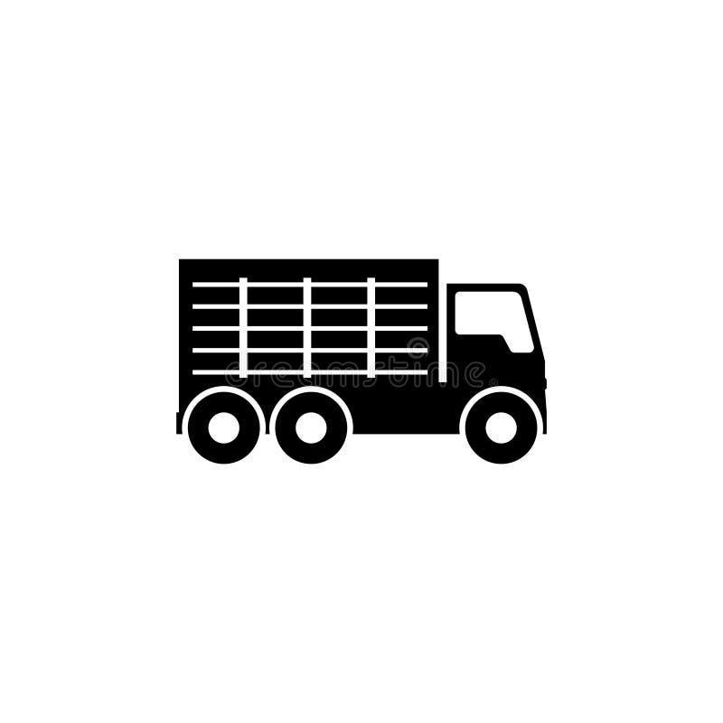 Icona piana di vettore del camion di immondizia illustrazione di stock