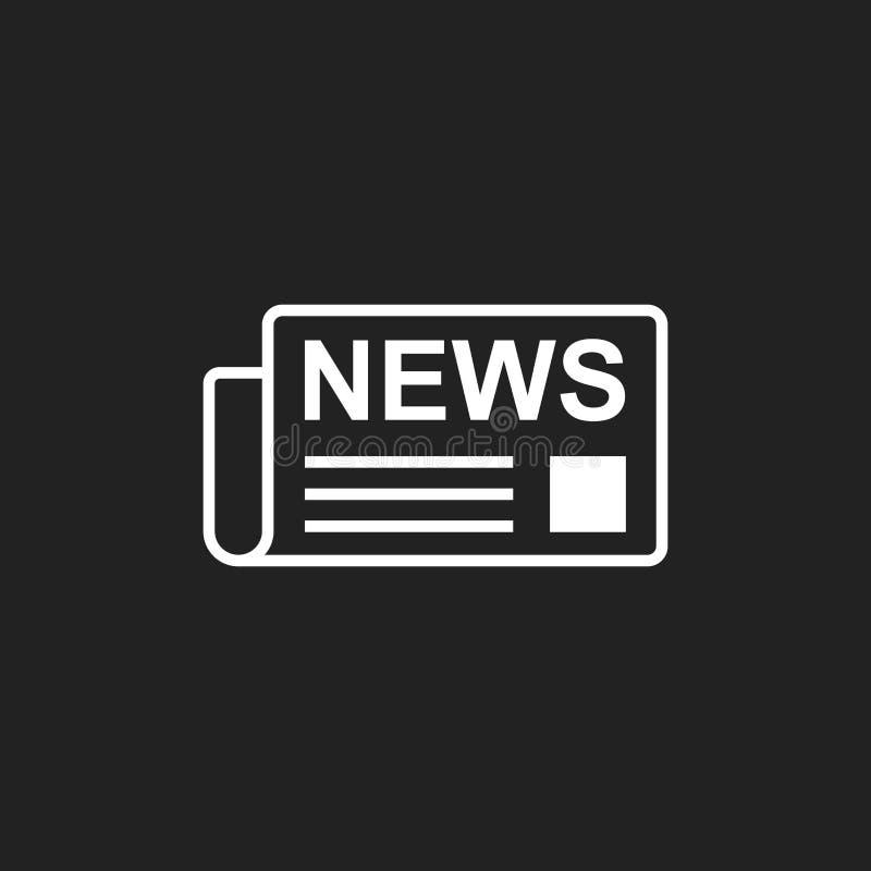 Icona piana di vettore del giornale Illustrazione di logo di simbolo di notizie illustrazione di stock