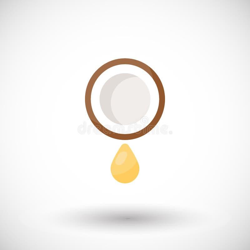 Icona piana di vettore dell'olio di cocco royalty illustrazione gratis