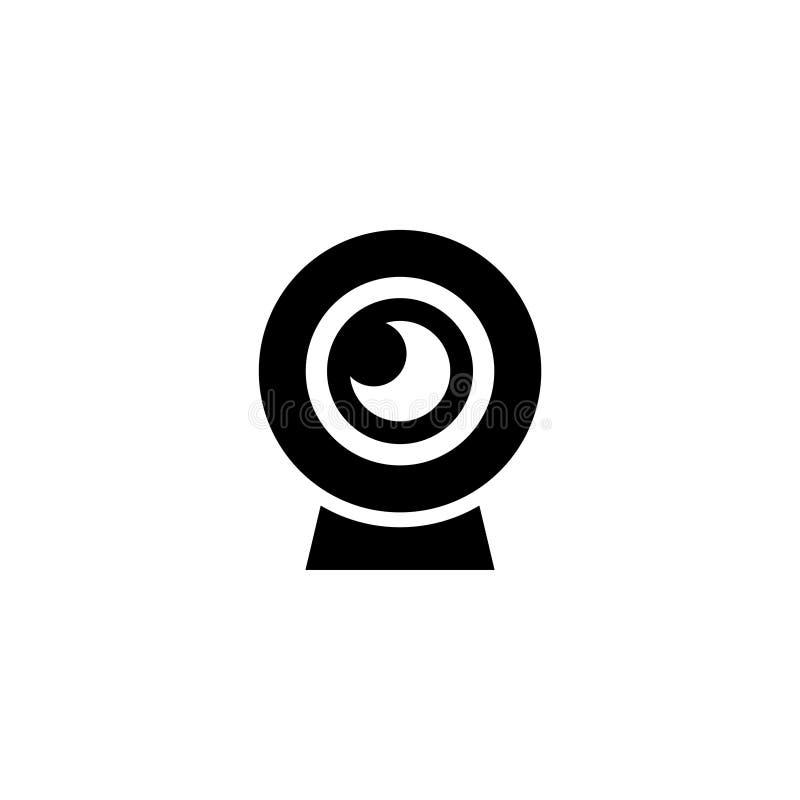 Icona piana di vettore della macchina fotografica di chiacchierata di web illustrazione di stock