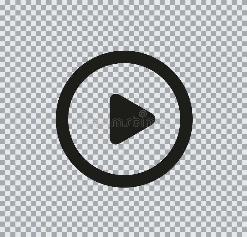 Icona piana di vettore di gioco su fondo trasparente illustrazione vettoriale